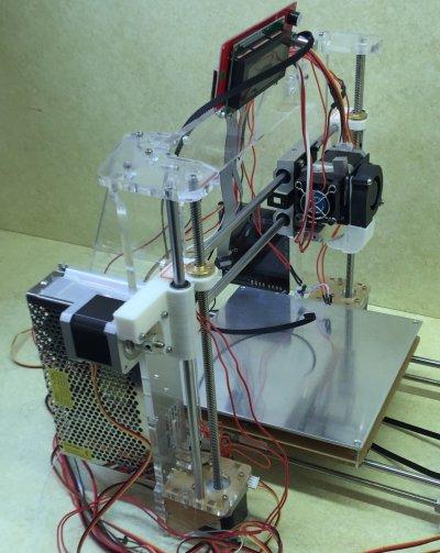 X and Z axis stepper motors on a RepRap printer