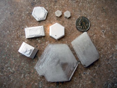 Crystals found growing in a glaze containing lithium carbonate