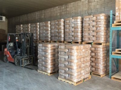 This is what a semi-trailer load (40,000 lbs) of talc looks like