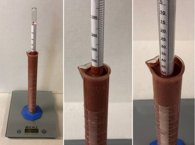 More problems measuring glaze specific gravity using a hydrometer