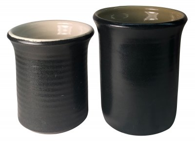 Stunning black silky matte glaze at cone 6