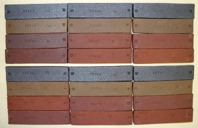 Different runs of Plainsman Red Fireclay
