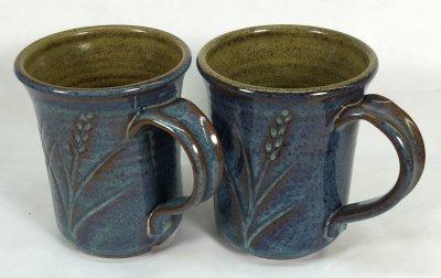 Plainsman iron red clays with rutile blue Alberta Slip glaze