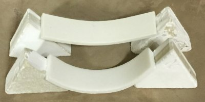 Fired deformation comparison between two porcelains