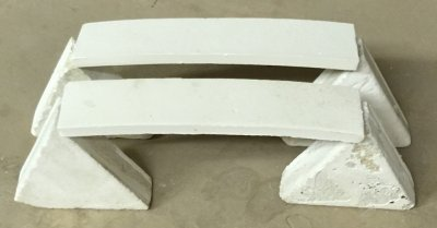 Two bars ready for pyro-plastic comparison test