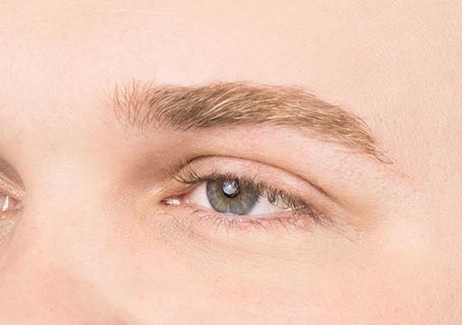 men's eyebrow- grooomed