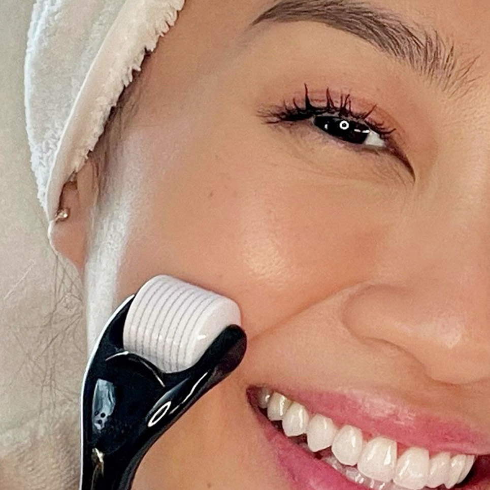 Using Complexion Perfection Micro Needle Roller