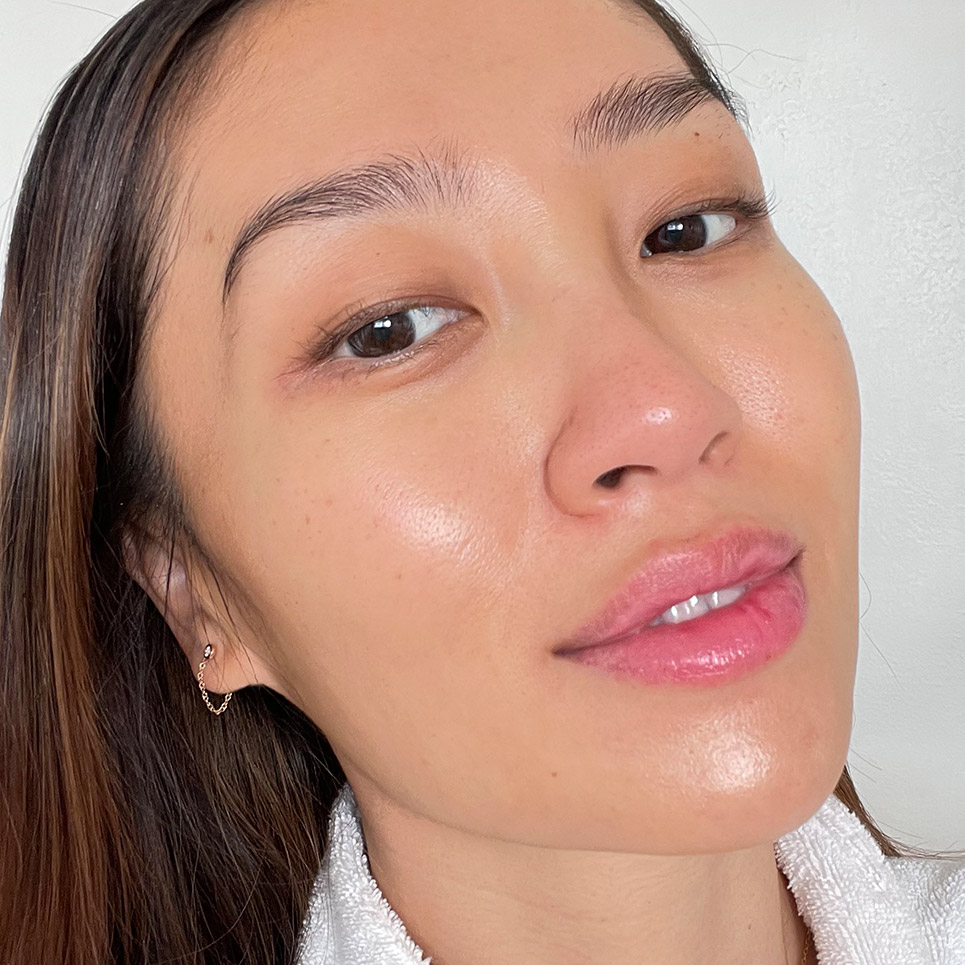 Woman's face after Japonesque skin care routine