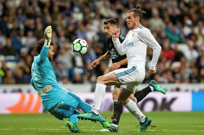 Gareth Bale marcó un doblete en la goleada del Real Madrid sobre el Celta de Vigo, este sábado en la Liga española. LA PRENSA/EFE/ Rodrigo Jiménez