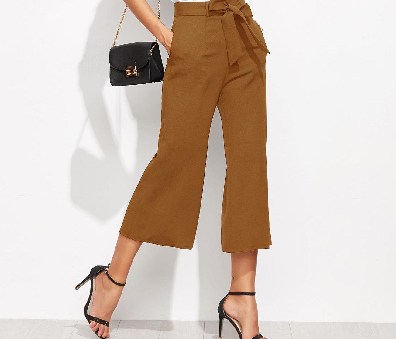 Moda Pantalones De Tela Casual Y Formal Se Aduenan Del Look Sporty