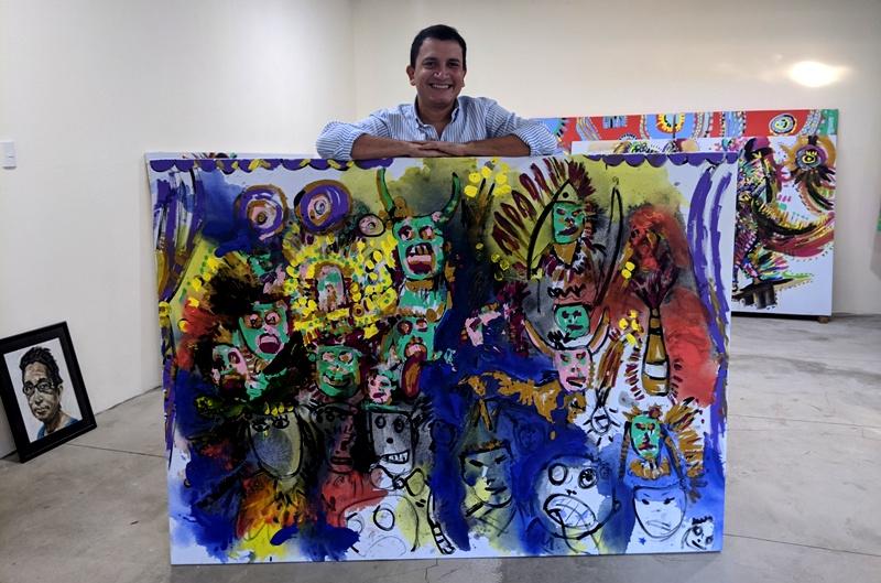 Wil Carmona, artista visual y uno de los promotores del nuevo espacio virtual 33k Gallery. LA PRENSA/Cortesía