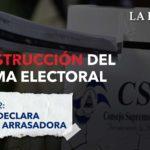 La destrucción del sistema electoral: Ortega declara victoria arrasadora