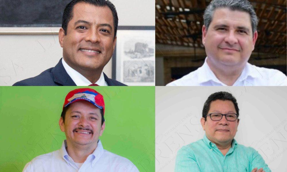 Cuatro aspirantes se comprometen a apoyar candidatura unitaria