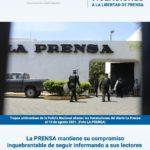 Informe de Violaciones a la Libertad de Prensa-Agosto 2021