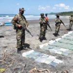 Ejército decomisa 211 kilos de cocaína en Playa Amarilla, Tola
