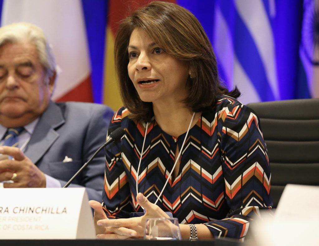 La expresidente de Costa Rica, Laura Chinchilla. LA PRENSA/Archivo