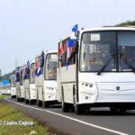 Nicaragua recibe la segunda flota de buses rusos