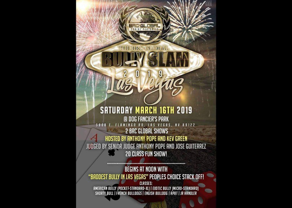 BRC Global Bully Slam 2019 【 Saturday (16) March 2019