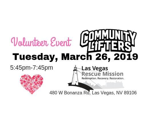 Volunteer Event at LVRM 【 Tuesday (26) March 2019 】 Las