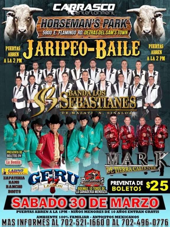 Jaripeo Baile 【 Saturday (30) March 2019 】 Horseman's Park