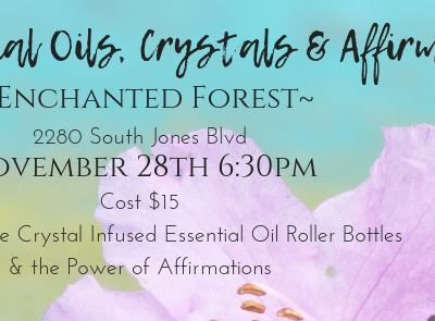 Essential Oils, Crystals and Affirmations 【 Wednesday (28