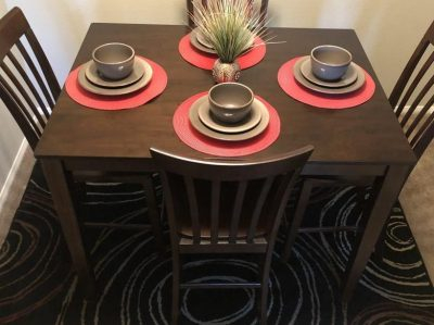 Pub Style Table with chairs and accessories