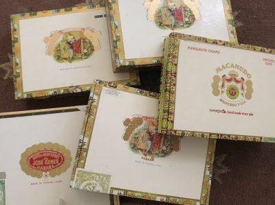 5 Cigar Boxes
