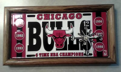 Chicago Bulls 6X champs clock