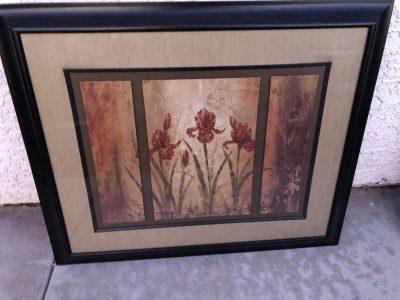 Beautiful flower picture espresso frame.