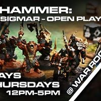 Age of Sigmar - Open Play days!