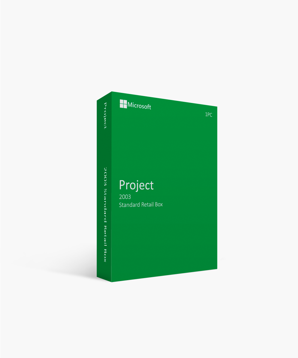 Microsoft Project 2003 Standard Retail Box