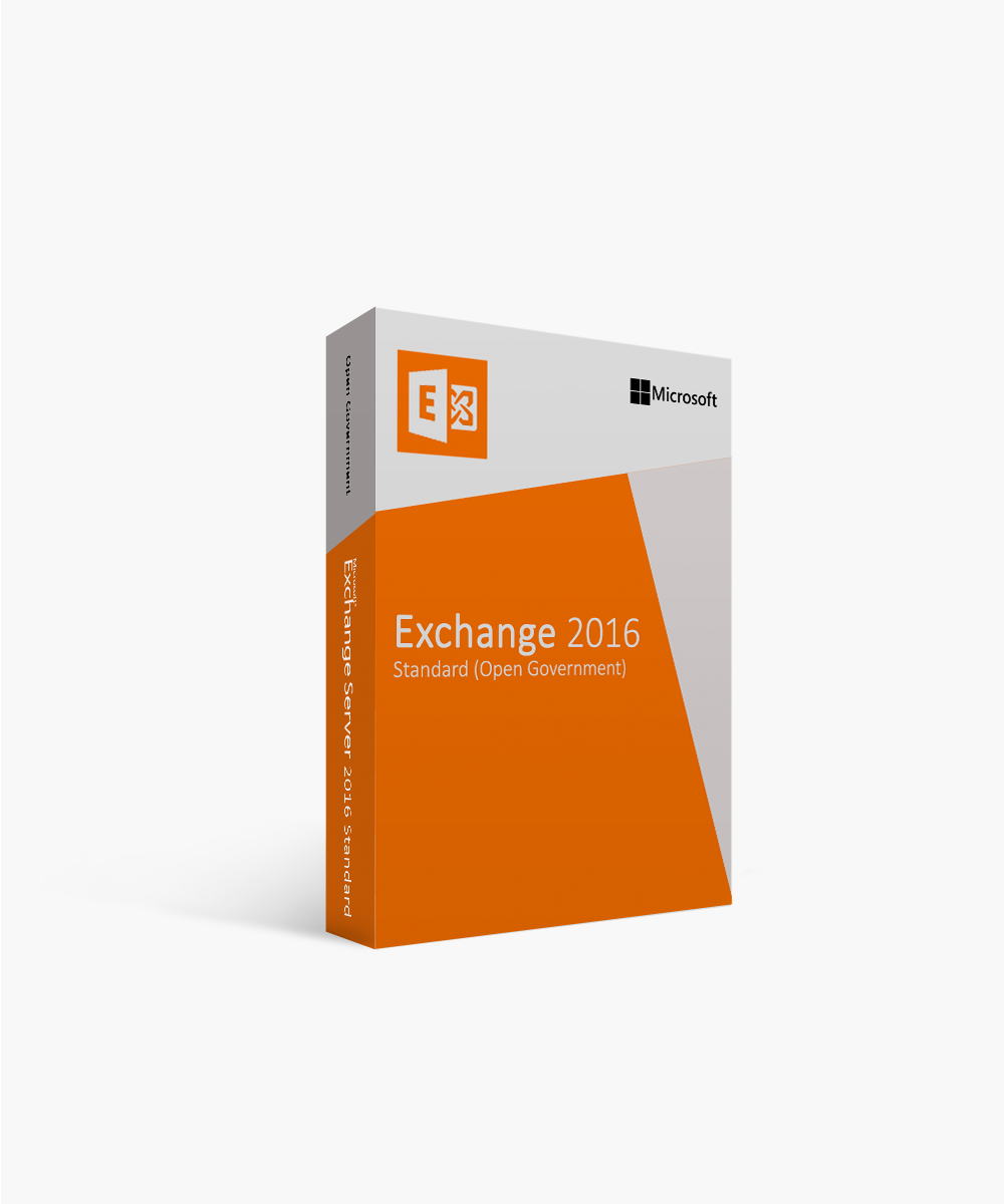 Microsoft Exchange Server Standard 2016 Open Government