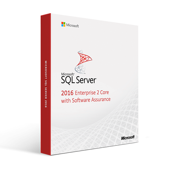 SQL Server 2016 Enterprise 2 Core with Software Assurance