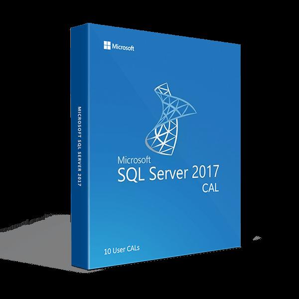 SQL Server 2017 10 User CALs