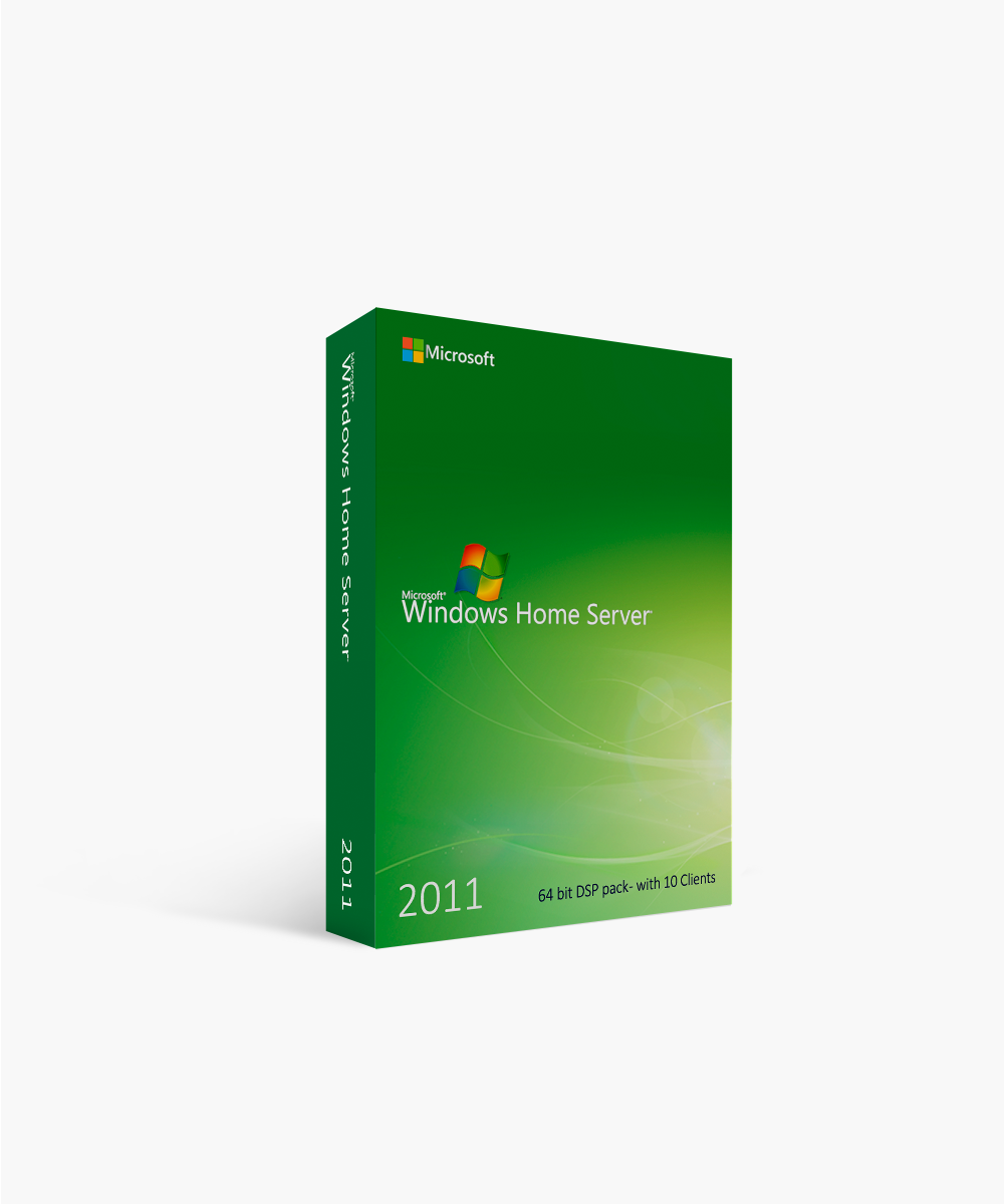 Microsoft Windows Home Server 2011 64-Bit DSP Pack with 10 Clients