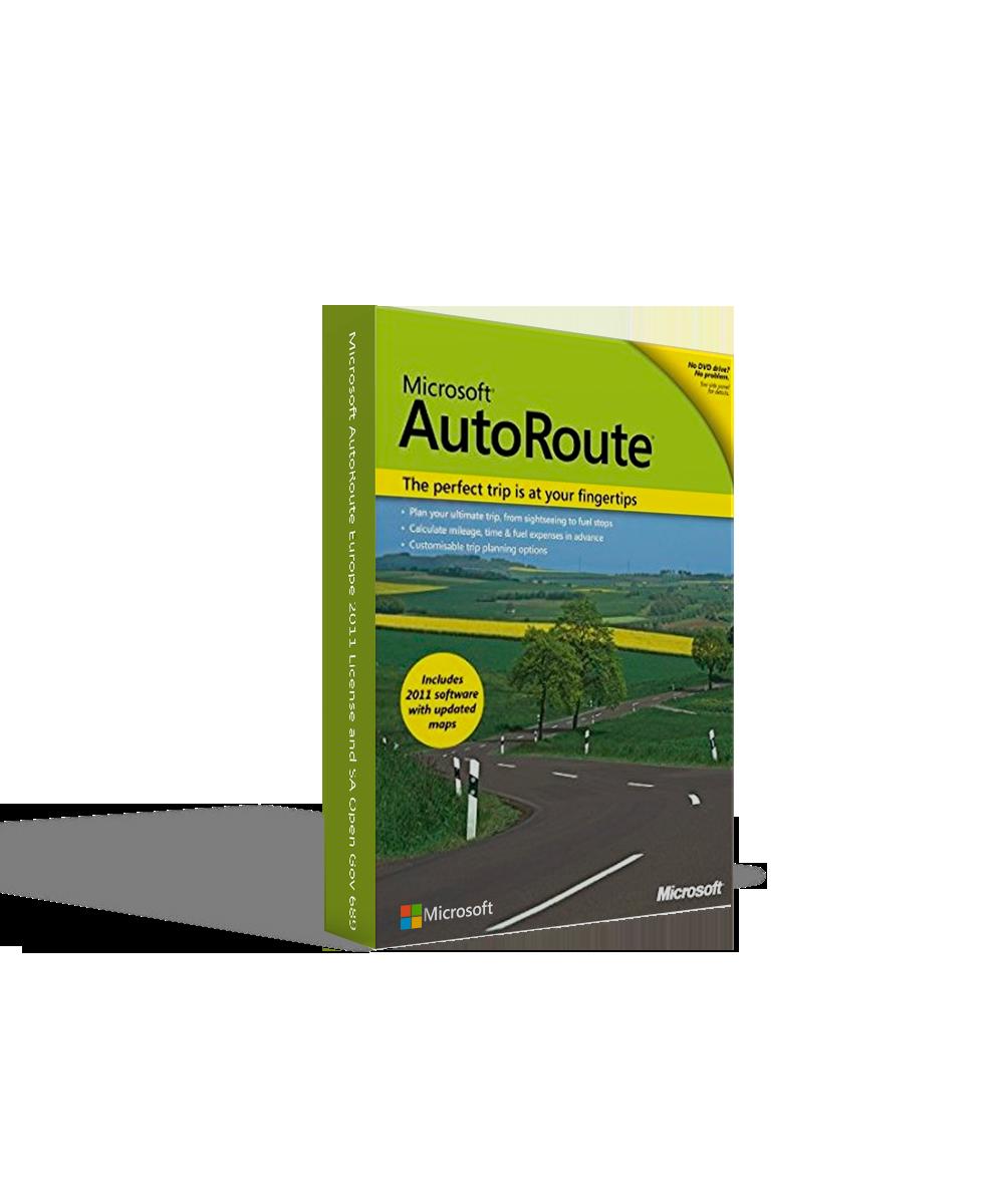 Microsoft AutoRoute Europe 2011 License and SA Open Gov 689-00723