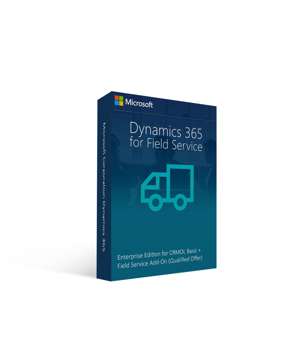 Microsoft Corporation Dynamics 365 for Field Service, Enterprise Edition for CRMOL Basic + Field Service Add-On (Qualified Offer)