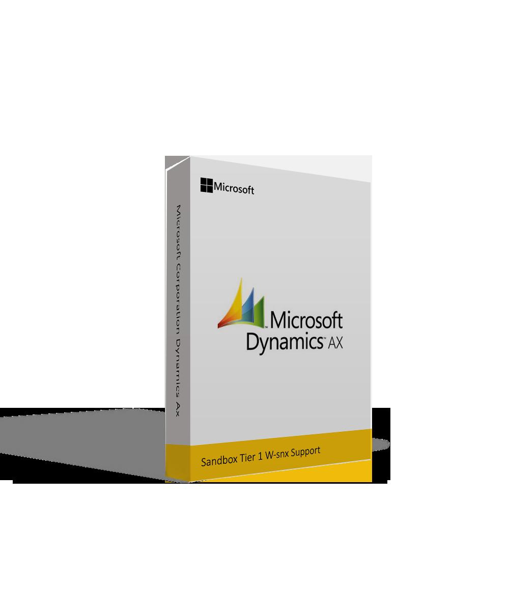 Microsoft Corporation Dynamics Ax Sandbox Tier 1 W-snx Support