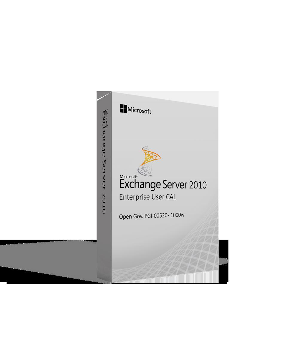 Microsoft Exchange Server 2010 Enterprise User CAL Open Gov. PGI-00520 - 1000w