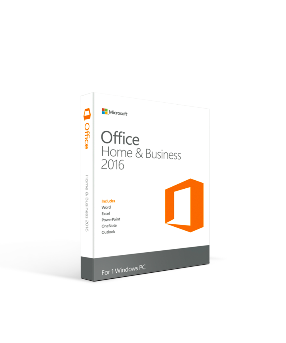 Microsoft Office 2016 Home and Business Retail Box - 1 User