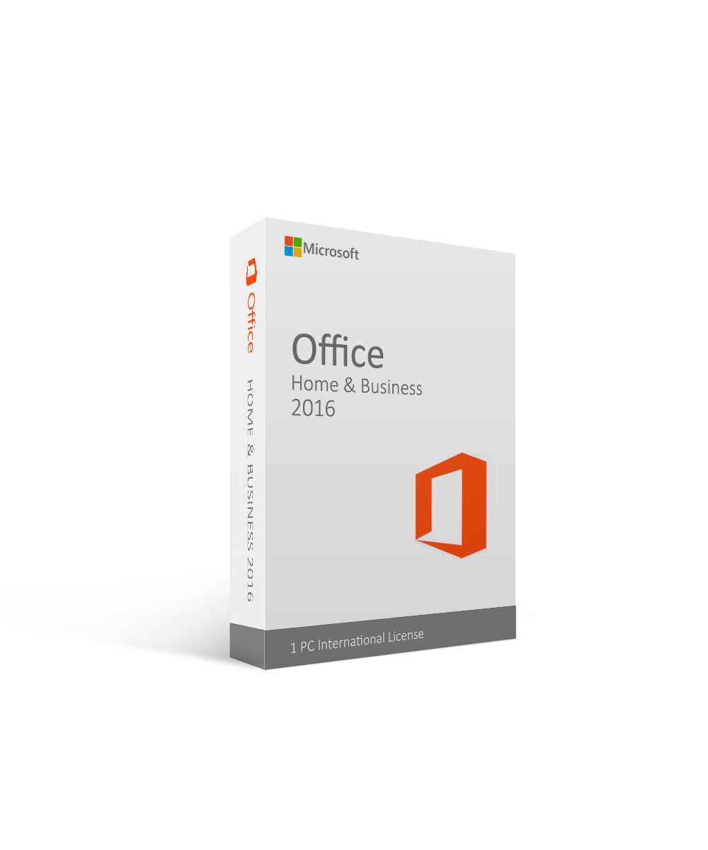Microsoft Office Home and Business 2016 - 1 PC International License