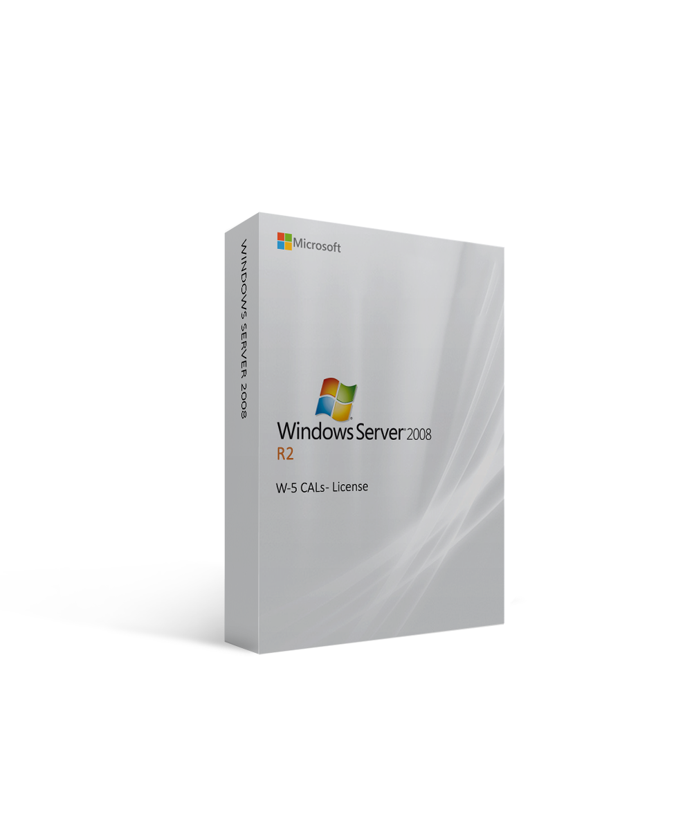 Microsoft Windows Server 2008 R2 W-5 CALs - License