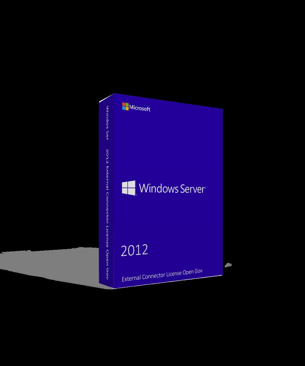 Microsoft Windows Server 2012 External Connector License Open Gov