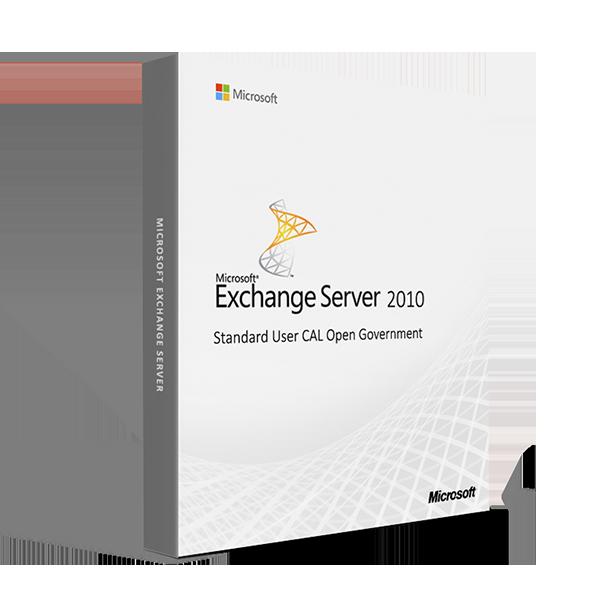 MicrosoftExchange Server 2010 Standard User CAL Open Government