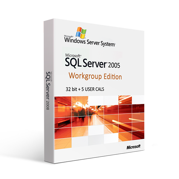 Microsoft SQL Server 2005 Workgroup Edition - 32bit + 5 USER CALS
