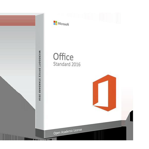 Microsoft Office Standard 2016 - Open Academic License