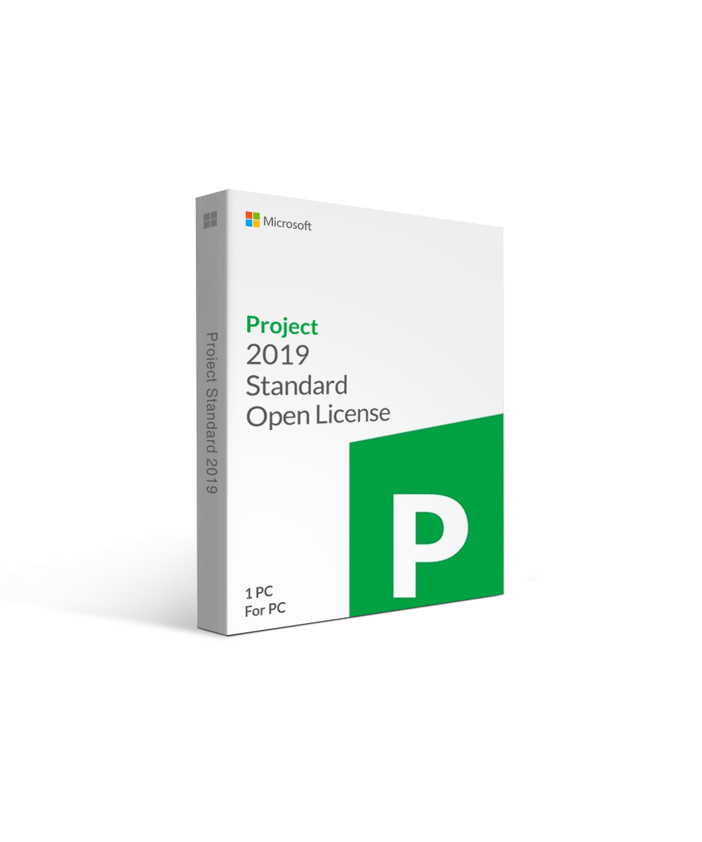 Microsoft Project 2019 Standard Open License