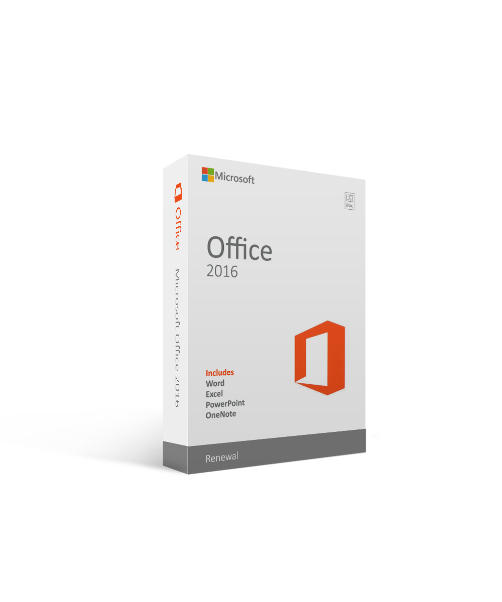 Renewal Microsoft Office 2016 for Mac