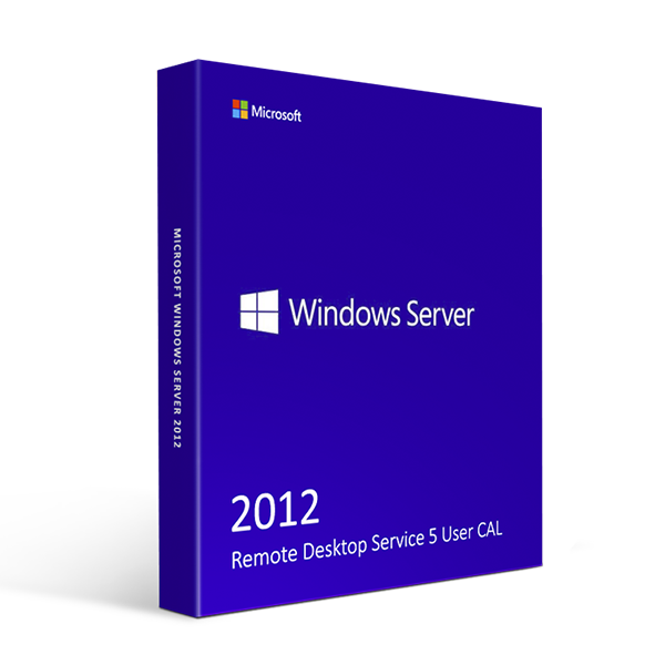 Microsoft Windows Server 2012 Remote Desktop Service 5 User CAL
