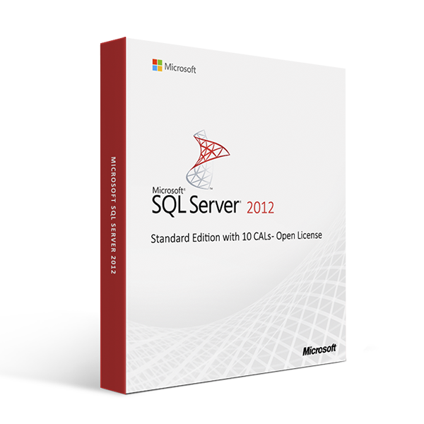 Microsoft SQL Server 2012 Standard Edition with 10 CALs - Open License